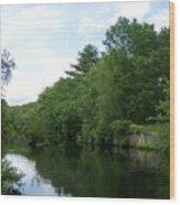 Clear River 1 Wood Print