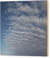 Clear Sky To Clouds Wood Print by Lee Stickels