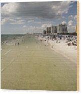 Clear Water Beach II Wood Print