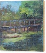 Clearfork Bridge Wood Print