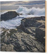 Clearing Storm At Bald Head Cliff Wood Print
