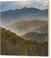 Clearing Storm At Webb Overlook Wood Print