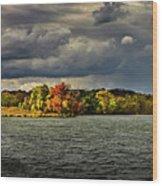 Clearing Storm Chippewa Lake Panorama  Wood Print