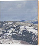 Clearing Storm On Rocky Peak And Hot Springs Wood Print