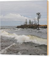 Clearing Storm Over Lake Superior Wood Print