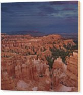 Clearing Storm Over The Hoodoos Bryce Canyon National Park Wood Print