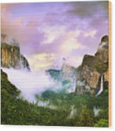 Clearing Storm Over Yosemite Valley Wood Print