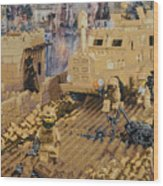 Clearing The Road- Kandahar Province Afghanistan Wood Print by Josh Bernstein