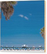Clearwater Beach Wood Print