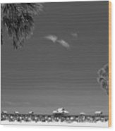 Clearwater Beach Bw Wood Print