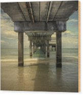 Clearwater Pier Wood Print