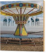 Cleethorpes Beach Wood Print
