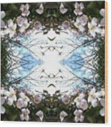 Clematis Sky Window Wood Print