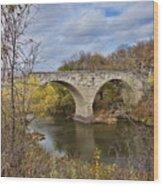 Clement Stone Arch Bridge Wood Print