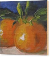 Clementines Wood Print