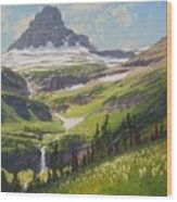 Clements Mountain Wood Print