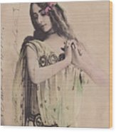 Cleo De Merode Wood Print