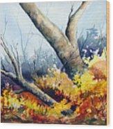 Cletus' Tree Wood Print