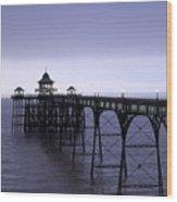 Clevedon Pier  Wood Print