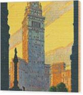 Cleveland - Vintage Travel Wood Print