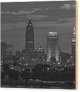 Cleveland After Dark Wood Print