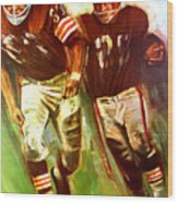 Cleveland Browns 1965 Cb Helmet Poster Wood Print
