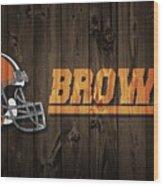 Cleveland Browns Barn Door Wood Print