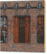 Cleveland Browns Brick Wall Wood Print