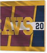 Cleveland Cavaliers Flag2 Wood Print