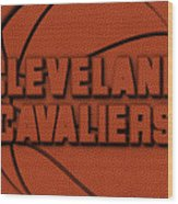 Cleveland Cavaliers Leather Art Wood Print