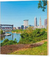 Cleveland Cityscape Wood Print