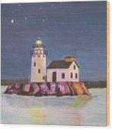 Cleveland Harbor West Pierhead Lighthouse Wood Print