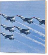 Cleveland National Air Show - Air Force Thunderbirds - 1 Wood Print