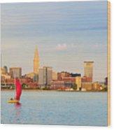 Cleveland On The Lake Wood Print