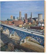 Cleveland Skyline #1 Wood Print