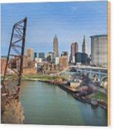 Cleveland Skyline #2 Wood Print
