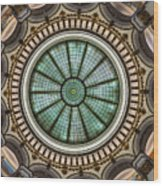 Cleveland Trust Rotunda Building Ceiling Wood Print