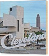 Cleveland Updated View Wood Print