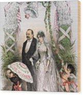 Clevelands Wedding, 1886 Wood Print