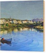 Clifden Harbour Wood Print