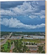 Cliff Avenue Storm Clouds Wood Print