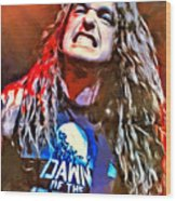 Cliff Burton Portrait Wood Print
