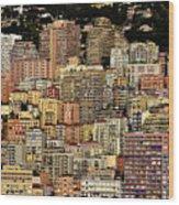 Cliff Dwellers Of Monte Carlo Wood Print