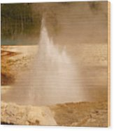 Cliff Geyser Wood Print