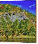 Cliff Of Color Wood Print
