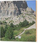 Cliff Shelf Trail In Badlands National Park South Dakota Wood Print