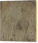 Cliff Trees Wood Print