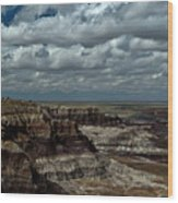Cliffs And Clouds Wood Print