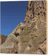 Cliffs At Bandelier Wood Print