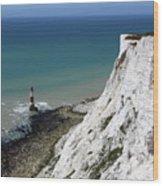 Cliffs At Beachy Head East Sussex Wood Print